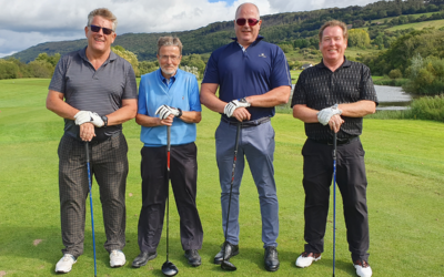 Managing Director, Rob Woodward enjoying a Fundraising Golf Day for Midlands Air Ambulance – Celtic Manor