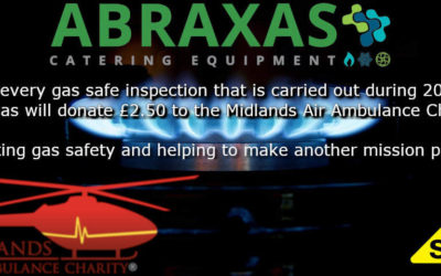 A Gas Safe 2020 with Abraxas Catering and Midlands Air Ambulance Charity